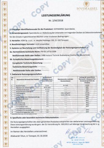 MSD-Konformitätserklärung